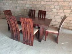 Rectangular Sheesham Wood Dining Set for Home, Size: Table 69 X 36 X 30