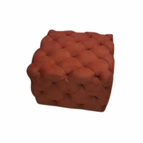Brown Plain Square Sofa Stool Rs 6000