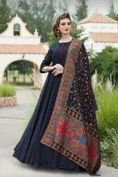 Ladies Gown With Attached Dupatta
