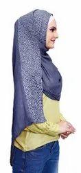 Women Soft Cotton Embroidery Scarf Hijab Dupatta