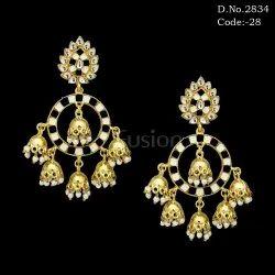 Bollywood Designer Meenakari Jhumka Earring