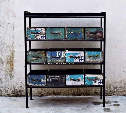 Rustic Drawer Chest - Rustic Furniture - Industrial Look Drawer Wide Chest for Hotel