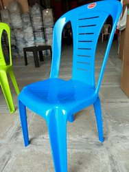 Polyset Plastic Chair Blue Color Armless