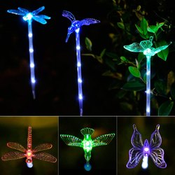Solar Powered Light with Stake Led