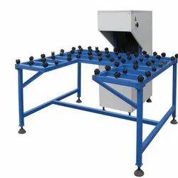 Mild Steel Triple Cross Belt Glass Grinding Machine, Model Number: DGMTC