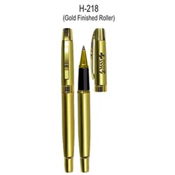 H-218 Gold Finished Promotional Metal Ball Pen, Packaging Type: Packet