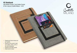 Notebook with Mobile Pocket Card