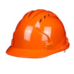 Orange Construction Safety Helmet