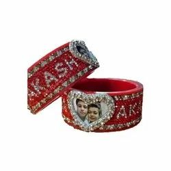 Husband Wife Name Bangles with Photo