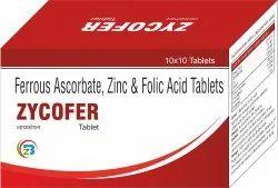 Ferrous Ascorbate , Zinc Sulphate & Folic Acid Tablets
