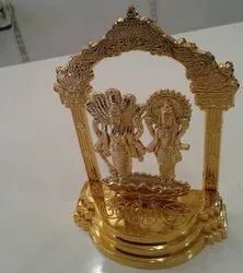 Gold Plated Vishnu Laxmi With Sheshnag