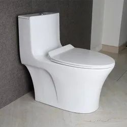 Closed Front White Ceramic Western Toilet Seat, for Bathroom Fitting, Size/Dimension: 380x685x785 Mm