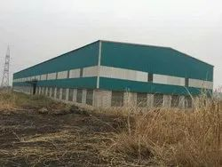 Steel Prefabricated Factory Shed, For Industrial