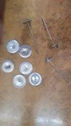 圆形不锈钢绝缘支撑套管,带垫圈,纺织工业,尺寸/尺寸:1-2英寸