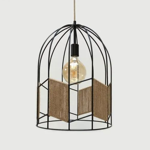 Black Wire Cage Pendant Light