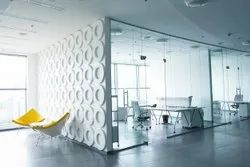 Silver Glass Partition, For Office
