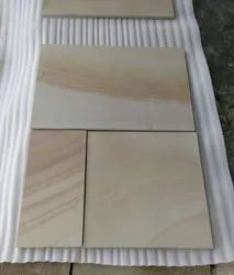 Slab Natural SGM TeakWood Sand Stone, For Wall Tile, Thickness: 15-20