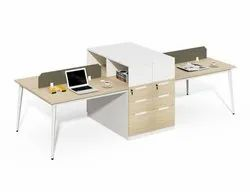 Modular Office Workstation i Back2back Modular Office Cubicle Workstation for Four Seat