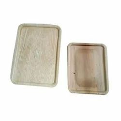 Rectangle Areca Leaf Container, Use: Utility Dishes