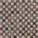 Capstona Stone Mosaics White Gold Tiles