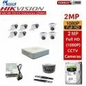 Feecom Hikvision 2-mp Full Hd Dvr 8-ch Combo With 3-pc Dome Camera & 5-pc Bullet Camera 2-mp 1-tb Hd