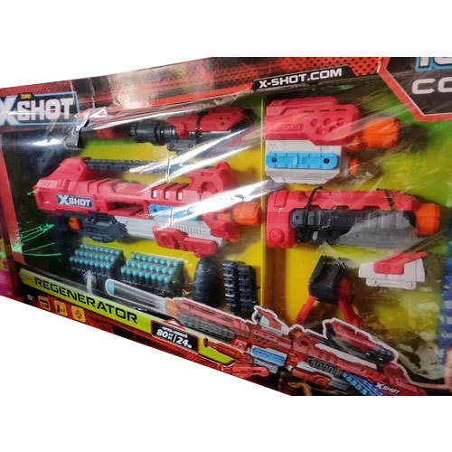 Multicolor Plastic Kids X Shot Toy Gun, for School/Play School