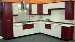 L Shape Stainless Steel Sajavat Modular Kitchen And Furniture, Warranty: 1-5 Years