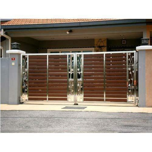 Silver Stainless Steel Gate Design