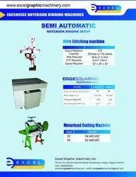 Semi Automatic Notebook Making Machine