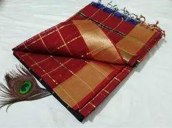 Silk Cotton Maheshwari Saree
