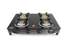 Black 4 Gas Stove, for Kitchen