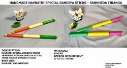 Navratri Special - Three Color Wooden Dandiya Stick
