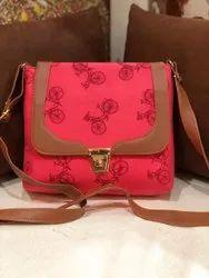 Multicolor Metal Handle Sling Bag, Size: 9