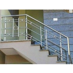 Plain Stainless Steel Railing, For Home
