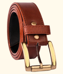 Male Pin Buckle Casual Leather Belt