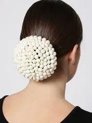 Priyaasi Artificial White Buds Designed Bun Maker Hair Accessories