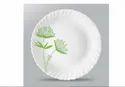Round Glass Larah Borosil Printed Plate, Size: 11inch