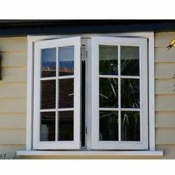 Aluminium White Aluminum Hinged Window