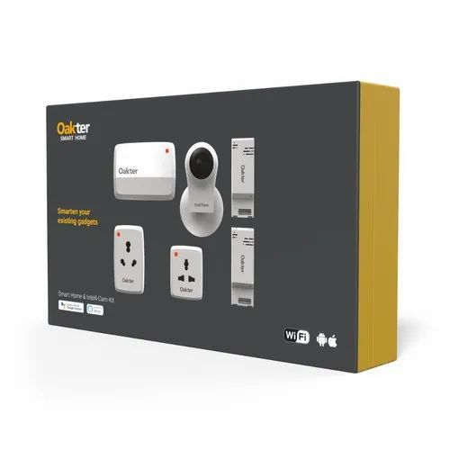 2 MP Oakter Smart Home & Intelli-Cam Kit, Range: 15 to 20 m