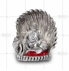 Silver Plated Sai Baba Statue Gift