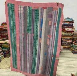 Indian Texture Vintage Kantha Quilt