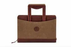 Brown ARLCAN-09 Waxed Canvas Travel Bag, Size/Dimension: 14 X 12 X 6 Inches
