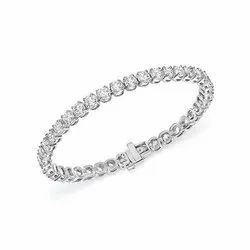 D-Star Jewellery White Diamond Bracelet
