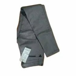 Plain Formal Wear Men Linen Long Grey Trouser
