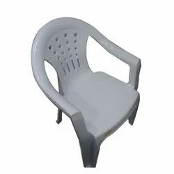 White Plastic Garden Chair