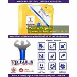 Yellow X- Paulin Cross Laminated Tarpaulin