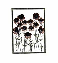 Brown Interio Crafts Iron Flower Wall Hanging Home Decor Panel, Size: 36X26 Inches, For Decoration