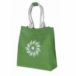 Green Printed Eco Friendly Jute Bag