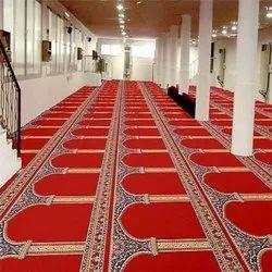 MKS INDIA Red Mosque Floor Carpet