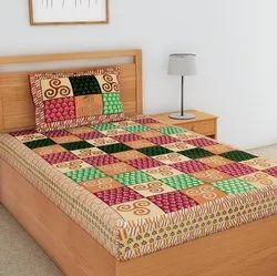 Elegant Print Single Bed Sheet Cotton